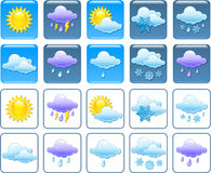 Weather squared icons Royalty Free Stock Photos