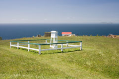 Weather station. On Tiri Tiri Matangi Island. South Pacific, Mew Zealand, Auckland stock photo
