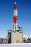 Weather station. Meteorological weather station on the top of Alpine mountain Royalty Free Stock Photography