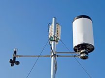 Weather station. Detail of outdoor weather station equipment Royalty Free Stock Photography