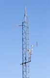 Weather station. Weather antenna stock images