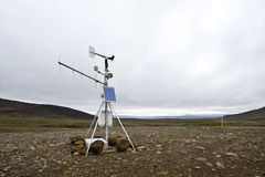 Weather station. See my other Images of Iceland Royalty Free Stock Photo