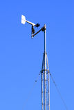 Weather station against blue sky Royalty Free Stock Photos