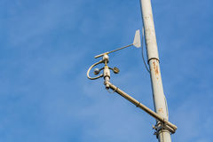 Weather station with anemometer Royalty Free Stock Photo