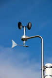 Weather station with an anemometer Royalty Free Stock Photo