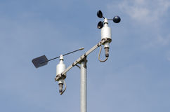 Weather station with anemometer Royalty Free Stock Images