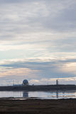 Weather station and coast guard in Iceland Royalty Free Stock Images