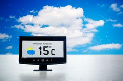 Weather station device with weather conditions Stock Photos