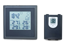 Weather station with external RF sensor Royalty Free Stock Images