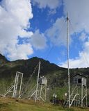 Weather Station at high altitude Stock Photography