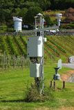 Weather station instruments. Outdoors weather station instruments against natural background