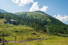 The weather station at Lake Akkem. Trekking in the Altai Mountains Royalty Free Stock Image