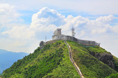 Weather station on mountain Stock Photography