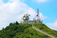 Weather station on mountain Royalty Free Stock Photos