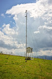 Weather station in mountain Stock Photo