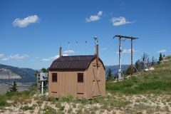A weather station at a mountain pass in wyoming. Stock Photo