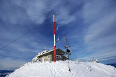Weather station on mountain top Royalty Free Stock Photo