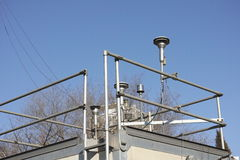 Weather station. A part of weather station and monitor royalty free stock image