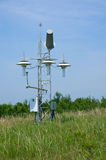 Weather Station on the Prairie. Personal weather station at Necedah Wildlife Refuge in Wisconsin royalty free stock photo