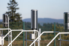 Weather station probes Royalty Free Stock Images
