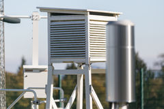 Weather station probes Stock Image