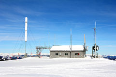 Weather station in snow Royalty Free Stock Photography