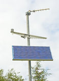 Weather station; solar powered. stock images