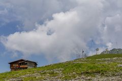 Weather station in the top of the mountains Royalty Free Stock Images