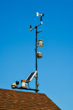 Weather station on roof Stock Images