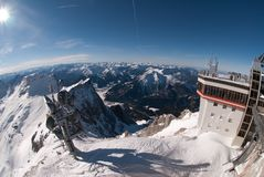 Weather Station in the Zugspitze, Germany Stock Images