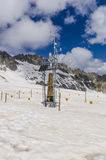 Weather Stationat an altitude of 2400 meters in the Alps Stock Photo