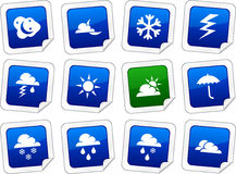 Weather stickers. Stock Photography