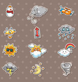 Weather stickers Stock Photos