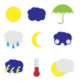 Weather stickers Royalty Free Stock Image