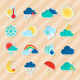 Weather stickers set Stock Images