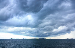 Weather Strom is Coming. Thailand Stock Images
