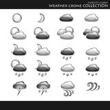 Weather style chrome collection Royalty Free Stock Photography