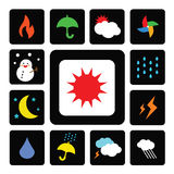 Weather symbol Stock Images