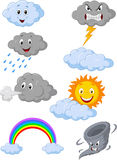 Weather symbol cartoon. Illustration of Weather symbol cartoon Stock Photo