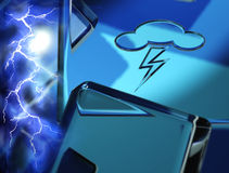 Weather Symbol - lightning. Symbols of conditions of weather Royalty Free Stock Photos