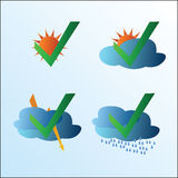 Weather symbol set Stock Photography