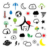 Weather symbol Royalty Free Stock Photography