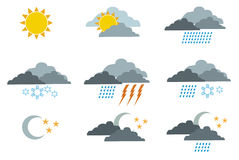 Weather symbols 1 Royalty Free Stock Photography