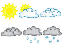 Weather Symbols. Professional vector icons series Royalty Free Stock Photo