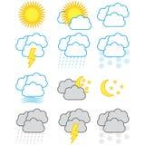Weather symbols Stock Photography