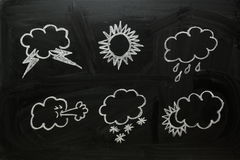 Weather Symbols Royalty Free Stock Photography