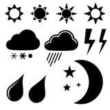 Weather symbols Royalty Free Stock Image