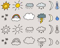 Weather symbols Stock Images