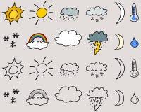 Weather symbols Stock Images