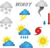 Weather Symbols. Of print or web Royalty Free Stock Photo